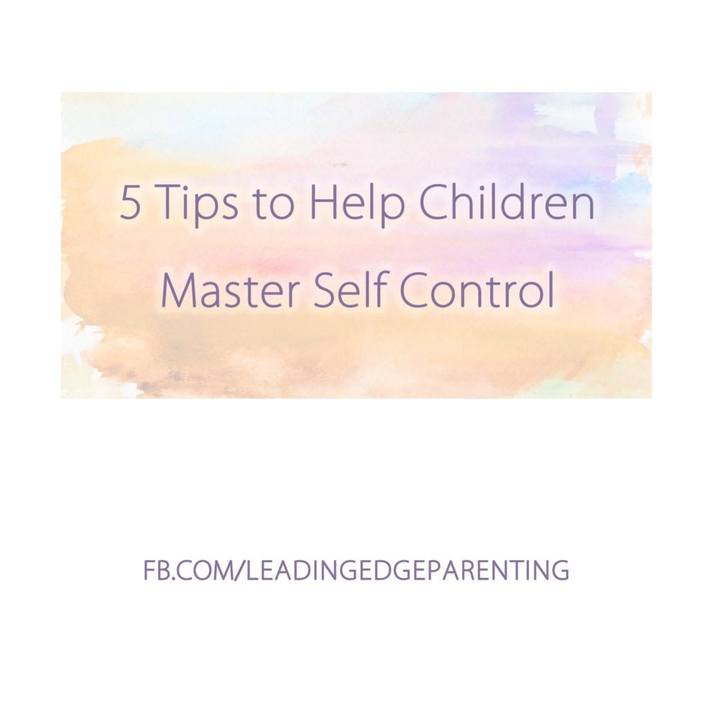 5 Tips to Help Children Master Self Esteem